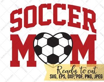 Soccer Mom - SVG, Vector, DXF, EPS, Digital Cut File, Silhouette, Cricut, Cuttable, Sports Mom, Football