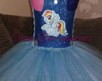 My Little Pony Inspired Tutu Dress