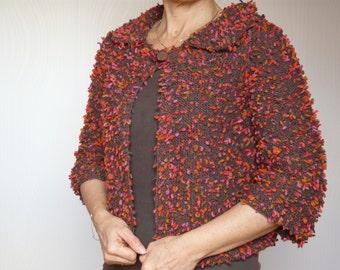 Overlap in wool retro style