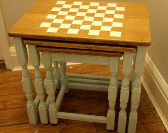 Chess table - restored coffee table nest