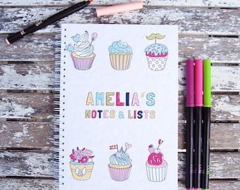 Cupcakes Personalised Notebook
