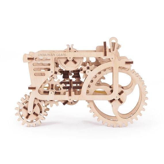 ugears tractor mechanical 3d puzzle wooden craft kit brain. Black Bedroom Furniture Sets. Home Design Ideas