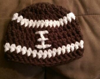Football newborn baby crochet beanie photo prop hat
