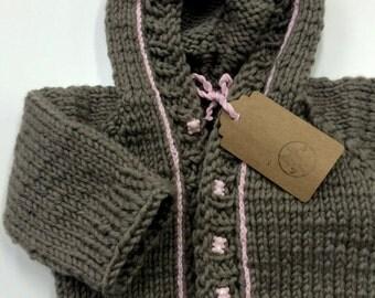 Handmade knitting baby sweater