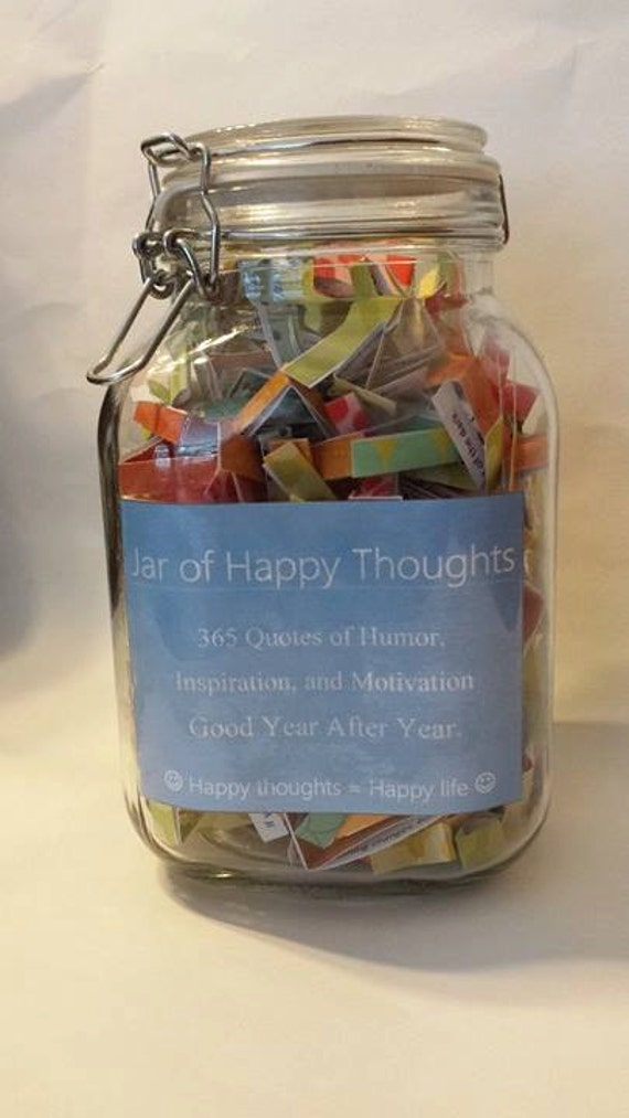 Humor Inspirational Quotes For Jar: Jar Of Happy Thoughts Quotes Of Humor Inspiration