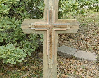 Handmade Very Large Reclaimed Wood Cross