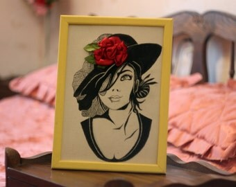 Lady Rose Embroidery Ribbons Flowers Picture