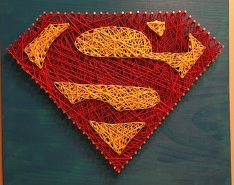 Superman Inspired String Art