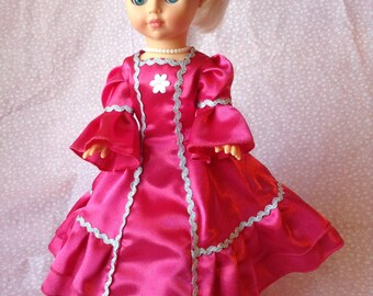 Vintage Doll In Hand Made Smart Dress