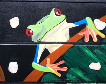 Red-Eyed Tree Frog Jewelry Box
