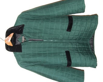 1980s Vintage Quilted Silk Bogari Jacket (Size S)