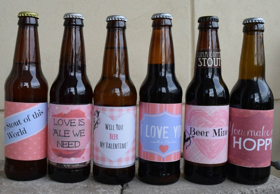 It's just an image of Astounding Free Printable Valentine Beer Labels