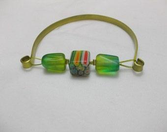 Handmade bracelet with murano beads