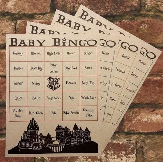 harry potter baby shower bingo by franklinstationary on etsy