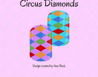 Circus Diamonds Custom Nail Wrap