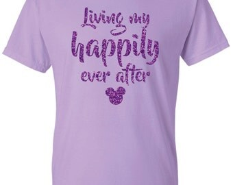 Disney Living My Happily Ever After Mickey Head Tshirt