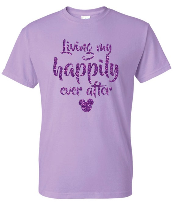 Disney living my happily ever after mickey head tshirt for Disney happily ever after shirt