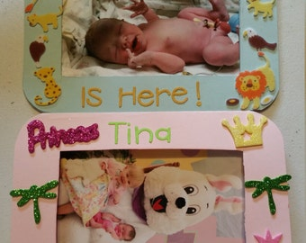 Adorable boy or girl birth announcements set of 10.