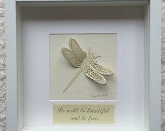 Papercut 3D butterfly 'Be wild be beautiful be free'