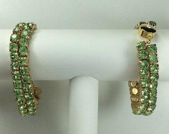 Peridot Glitterati Bracelet - Swarovski Crystals, Magnetic Clasp, Gold Plate