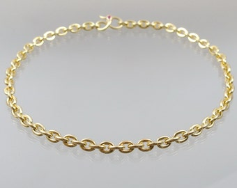 Gold chain necklace with Ruby 68 g 585 / - gold solid! Handmade unique Goldsmith