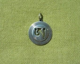 Tibetan syllable A. Dzogchen. Handmade Tibetan Buddhism Pendant. Tantric amulet. Buddhist Necklace. Tibetan buddhism. Tibet. Buddha. Aum. Om