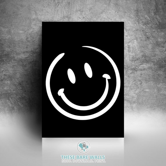 Chalkboard Emoji Bedroom Wall Art
