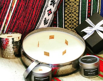 Bay Rum Wooden Wick Soy Wax candle