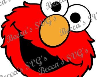 Elmo Head 4 color/layer SVG