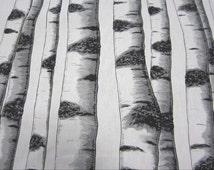 cotton fabric canvas swedish birch trunk Skogsbryn Arvidssons
