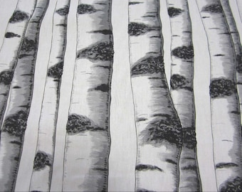 cotton fabric canvas swedish birch trunk Skogsbryn Arvidssons