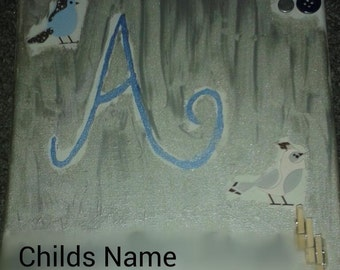 Child Name Nursery Canvas