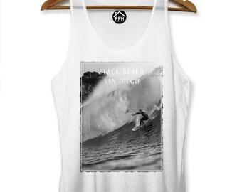 Black Beach San Diego Vest Surf Men Singlet Sleeveless Tank Famous Surfing PP112