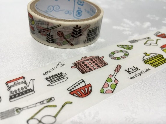 Kitchen Planner Sticker Tape 3m Kitchen Ware Washi Tape