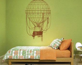 kik2958 Wall Decal Sticker balloon steampunk living room bedroom