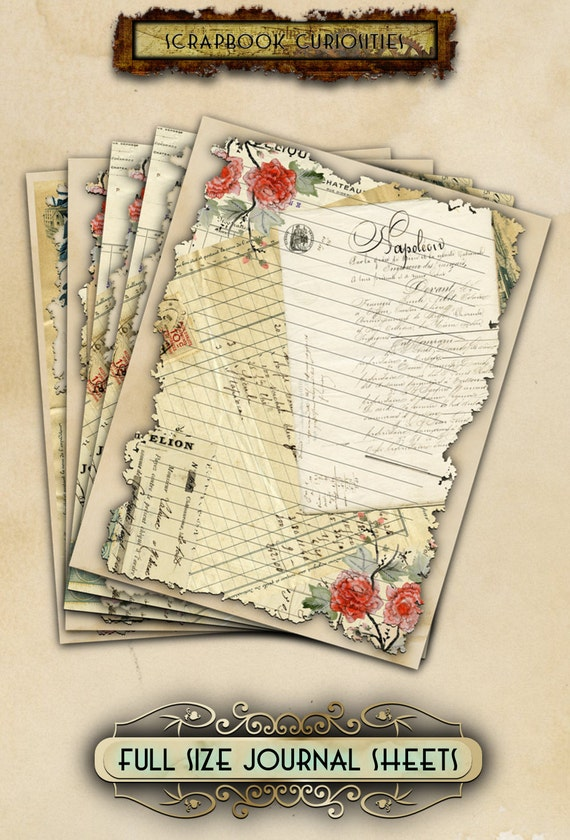 It is a graphic of Légend Junk Journal Printables