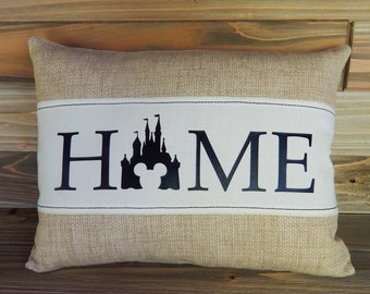 Disney Inspired 12x16 Pillow Cover, Disney World, Disney Home Decor, Mickey Mouse, Disney Gift, Cinderella's Castle, Decorative Pillow