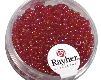 Rayher, beads, 2.6 mm, transparent, 17 G jar,