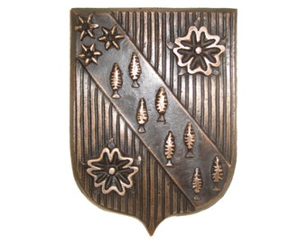 your bronze family coat of arms, made to order