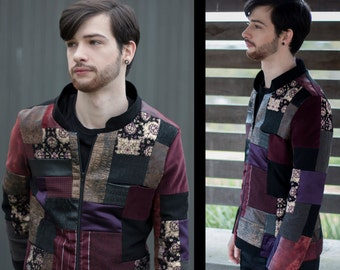 Mens Patchwork jacket - custom