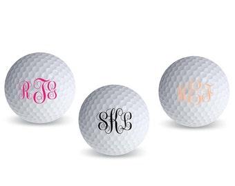 Personalized Monogram Script Golf Balls (pack of 18)