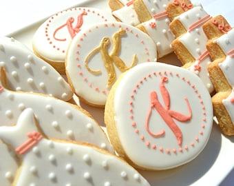 Bridal Shower Polkadot Sugar Cookies.
