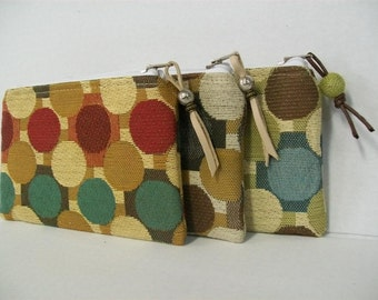 Circles Pouch- Upholstery Pouch Bag- ref-cr2