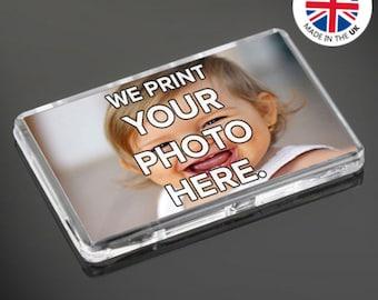 Personalised Custom Photo Gift Fridge Magnets 70 x 45 mm | Large Size