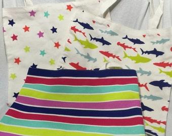 Kid's large tote bags/Kids large totes/Large Tote bag