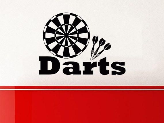Wall Art Decals Target : Dart wall decal target darts decals vinyl stickers teens