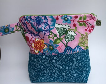 zippered knitting project bag