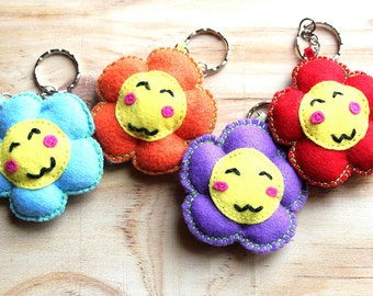 Kawaii flower key chain