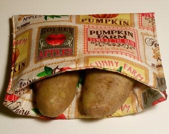 Potato Microwave Bag, microwave baked potato bag, bread warmer bag, holiday bread warmer bag, insulated bread bags, insulated bread holder