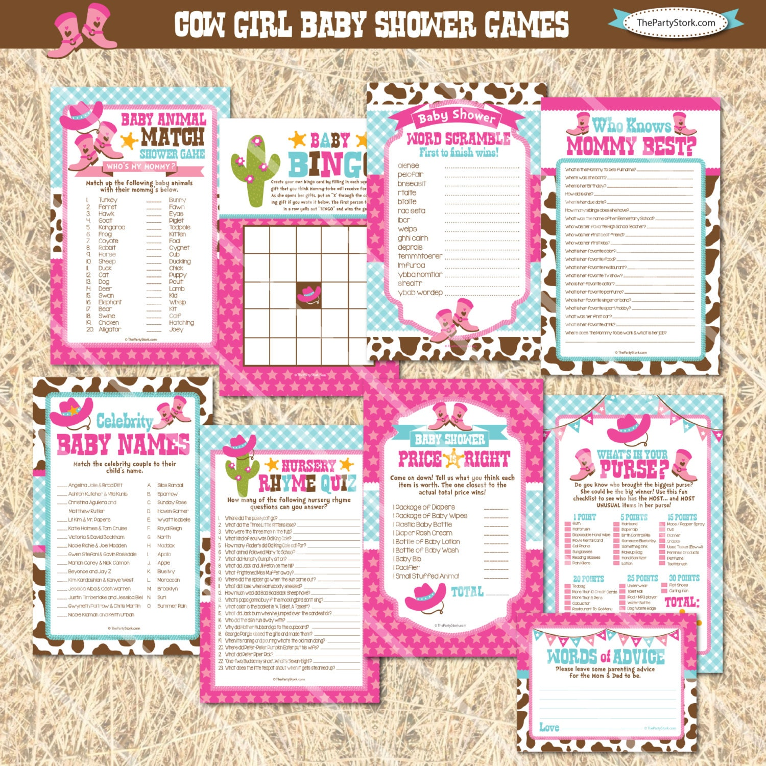 cowgirl baby shower games cowgirl printable baby shower game